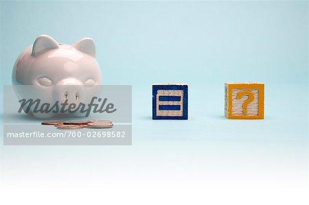 Piggy Bank and Blocks