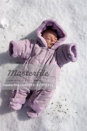 fc62407f8 Newborn Baby in Snowsuit - Stock Photo - Masterfile - Rights ...