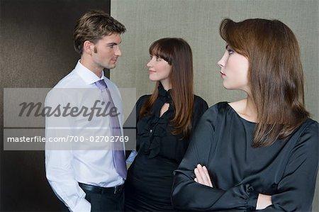 Woman Glaring at Couple