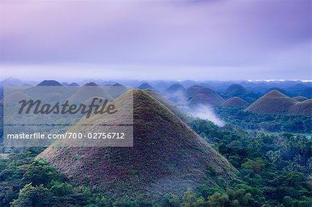 Chocolate Hills at Dawn, Carmen, Bohol, Philippines