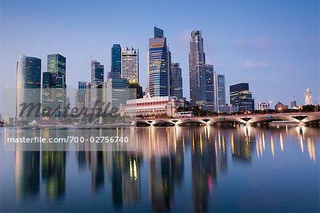 Financial District at Dawn, Singapore
