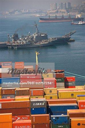 Cargo Containers, Port of Valparaiso, Valparaiso, Chile