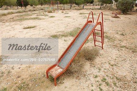 Playground, Monegros Desert, Zaragoza Province, Aragon, Spain
