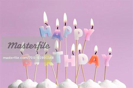 Happy Birthday Candles On Cake