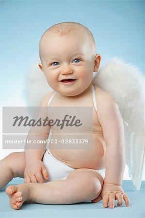 Baby Dressed as Angel