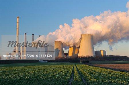 Coal Fired Power Station in Neurath, North Rhine-Westphalia, Germany