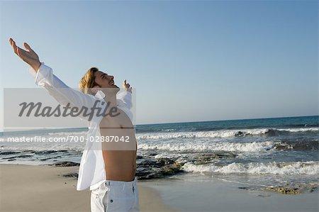 Man on the Beach, Ibiza, Spain
