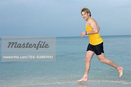 Man at Beach, Ibiza, Spain