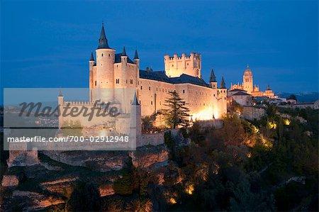 Alcazar of segovia, Segovia, Segovia Province, Castilla Y Leon, Spain
