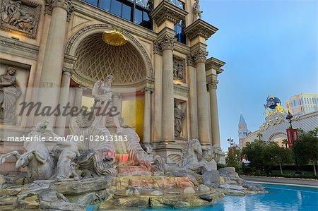 Fountain at Caesar's Palace Hotel and Casino, Paradise, Las Vegas, Nevada, USA
