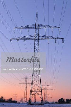 Hydro Tower at Dusk, Grossauheim, Hesse, Germany
