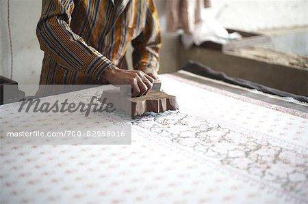 Block Printing, Jaipur, Rajasthan, India