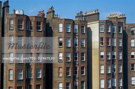 Apartment Buildings, Kensington, London, England - Stock Photo ...