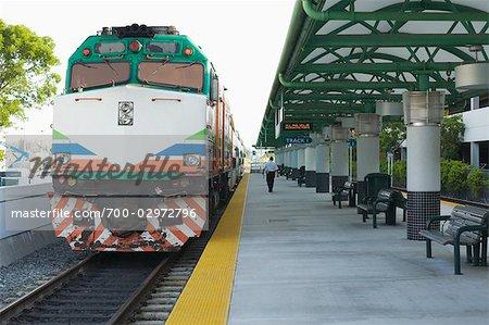 Tri Rail Train Running From Miami To West Palm Beach Florida Usa Stock Photo