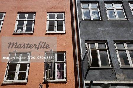 Exterior of Houses in Copenhagen, Zealand, Denmark