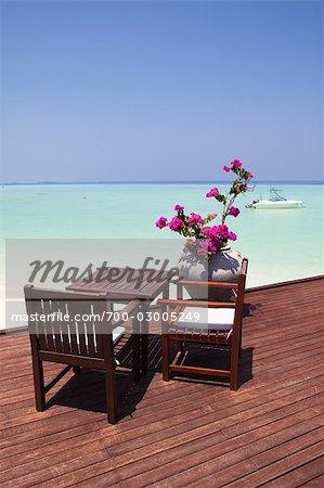 Restaurant by Lagoon, Olhuveli, South Male Atoll, Maldives