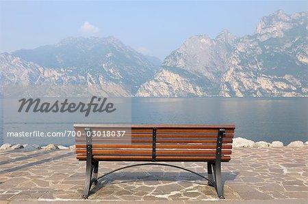 Bench by Lago di Garda, Torbole, Nago-Trebole, Trentino, Italy