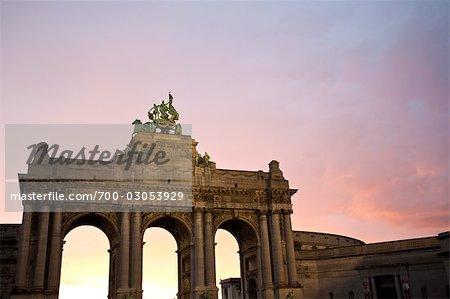 Triumphal Arch in Parc du Cinquantenaire, Brussels, Belgium