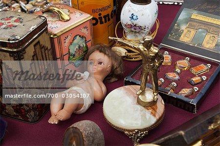 Close-up of Merchandise at Market, Ghent, Belgium