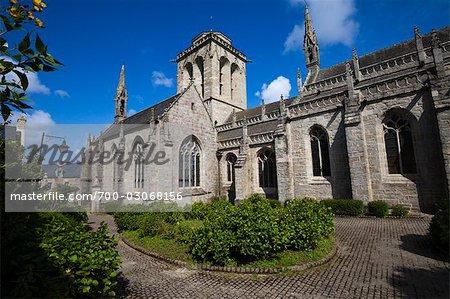 Saint Ronan Church, Locronan, Finistere, Brittany, France