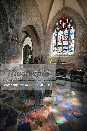 Tomb of Saint Ronan, Saint Ronan Church, Locronan, Finistere, Brittany, France