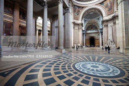Interior of the Pantheon, Paris, France