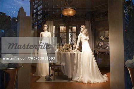 Window Display at Christmas, Manhattan, New York City, New York, USA