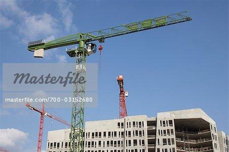 Crane at Construction Site, Hafencity, Hamburg, Germany