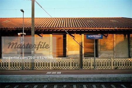 Railway Station in Montelimar, Drome, France