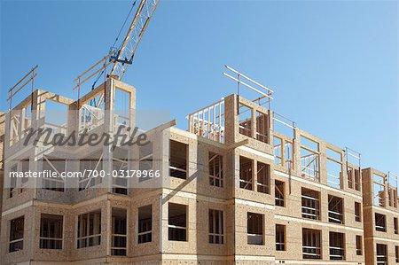 Apartment Building Construction, Vancouver, British Columbia, Canada