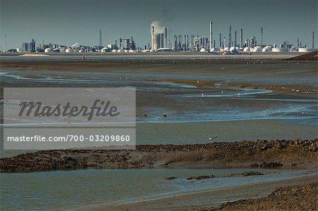 Oil Refinery by Ocean, Zeeland, Netherlands