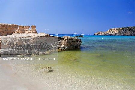 Cala Tarida Beach, Ibiza, Balearic Islands, Spain