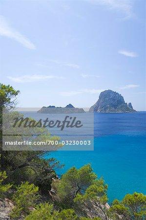 View of Es Vedra, Ibiza, Balearic Islands, Spain