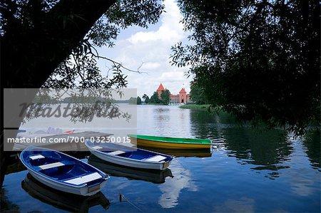 Trakai Island Castle, Lake Galve, Lithuania