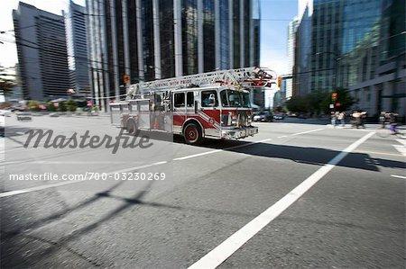 Fire Truck, Vancouver, British Columbia, Canada