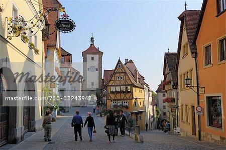 Siebers Tower, Rothenburg ob der Tauber, Ansbach District, Bavaria, Germany