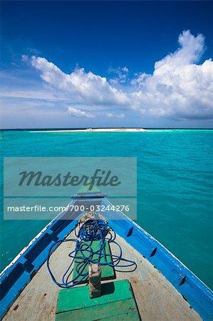 Boat at Banyan Tree Madivaru, Alif Alif Atoll, Maldives