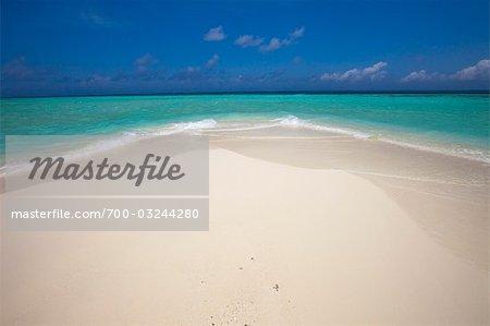 Beach at Banyan Tree Madivaru, Alif Alif Atoll, Maldives