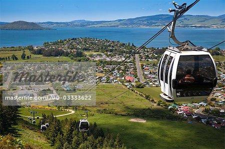 Gondola on Mountt Ngongotaha, Rotorua Region, North Island, New Zealand
