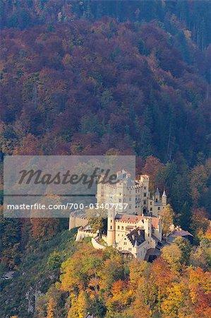 Hohenschwangau Castle in Autumn, Hohenschwangau, Schwangau, Ostallgau, Allgau, Bavaria, Germany