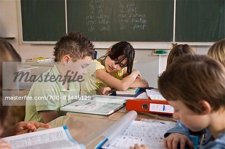Students in Class Doing School Work