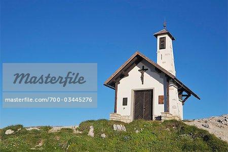 Small Chapel Near Rifugio Locatelli, Hochpustertal, Trento-Alto Adige, Bolzano Province, South Tyrol, Italy