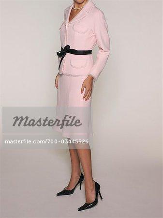 Woman wearing Pink Suit