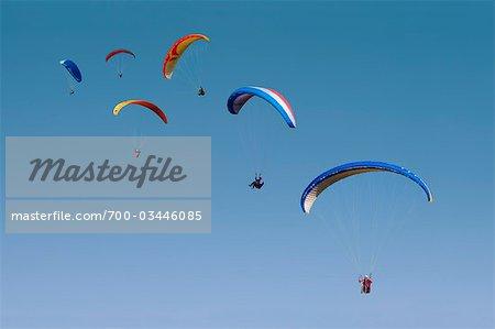 Parachuters, Millau, South France