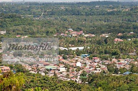 Overview of Davao, Mindanao, Philippines