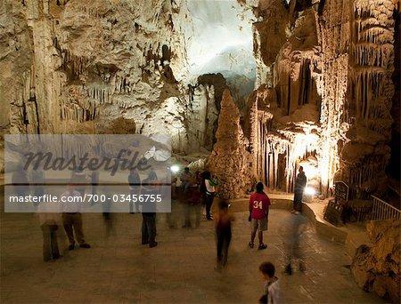 Tourists in Garcia Caves, Nuevo Leon, Mexico