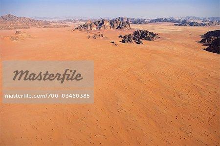Desert Mountain Landscape, Wadi Rum, Jordan, Middle East
