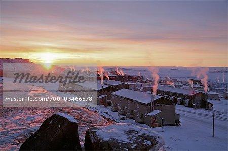 Iqaluit at Sunrise, Baffin Island, Nunavut, Canada