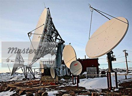 Satellite Dishes, Iqaluit, Nunavut, Canada