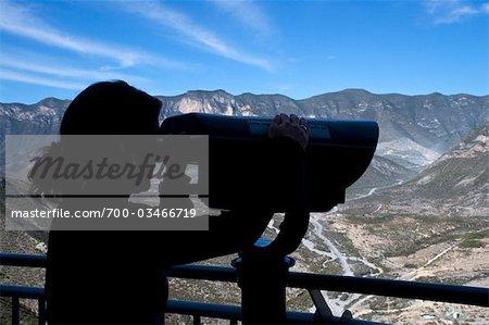 Woman Looking at Mountains, Monterrey, Nuevo Leon, Mexico